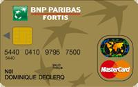 Carte Bancaire Fortis.Cartes De Credit Visa Bnp Paribas Mastercard Gold Topcompare Be